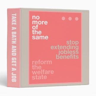 Welfare Reform Vinyl Binder