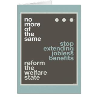 Welfare Reform Greeting Card