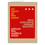 Welfare Reform Cards