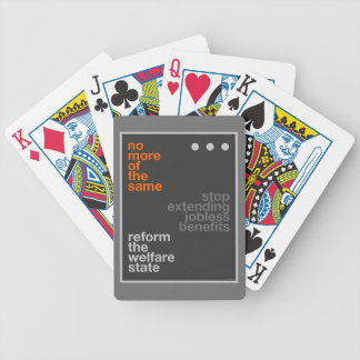 Welfare Reform Bicycle Playing Cards
