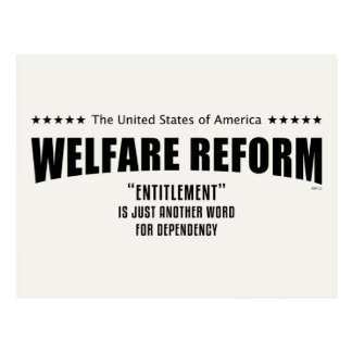 Welfare Reform Postcard