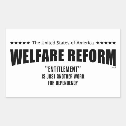 Welfare Reform Rectangular Sticker