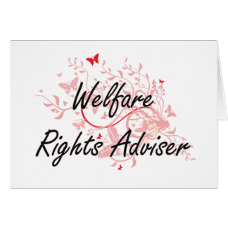 Welfare Rights Adviser Artistic Job Design with Bu Card
