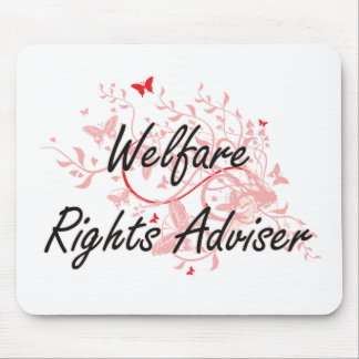Welfare Rights Adviser Artistic Job Design with Bu Mouse Pad