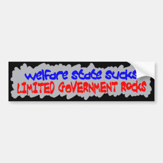 Welfare State Sucks Bumper Stickers