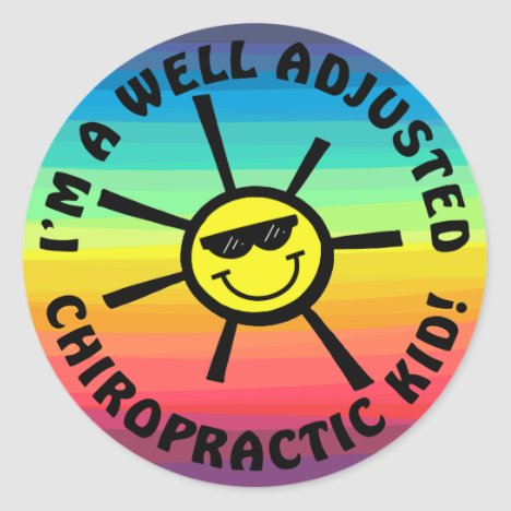 Well Adjusted Chiro Kid Stickers