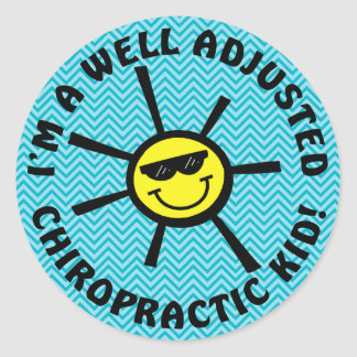 Well Adjusted Chiropractic Kid Stickers