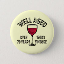Well Aged 1930's Vintage Pinback Button