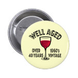 Well Aged 1960's Vintage Button