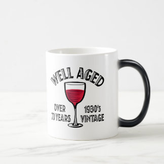 Well Aged Over 70 Years 11 Oz Magic Heat Color-Changing Coffee Mug