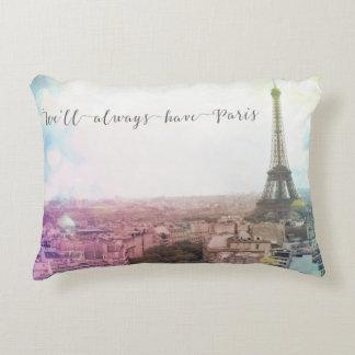 We'll Always Have Paris Accent Pillow