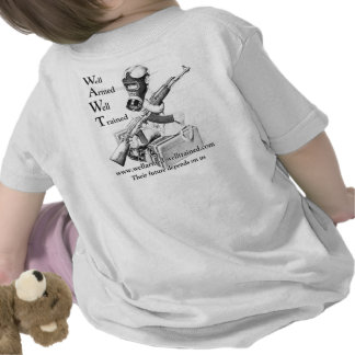 Well Armed Well Trained Ak Baby Prepper Shirt