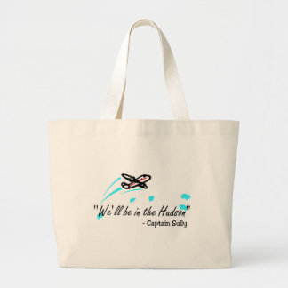 We'll Be In The Hudson (Blk) Tote Bag