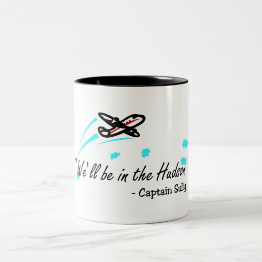 We'll Be In The Hudson (Blk) Two-Tone Coffee Mug