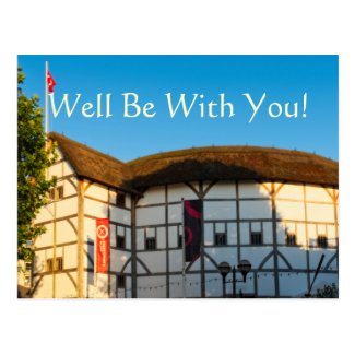 Well Be With You! Shakespeare Postcard