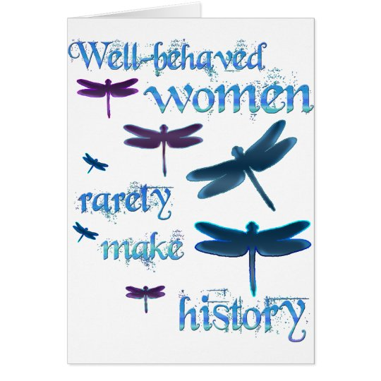 Well-behaved Dragonflies Card