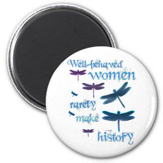 Well-behaved Dragonflies 2 Inch Round Magnet