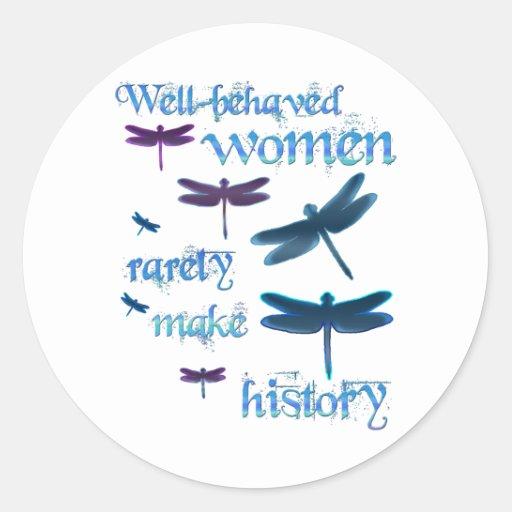 Well-behaved Dragonflies Round Sticker