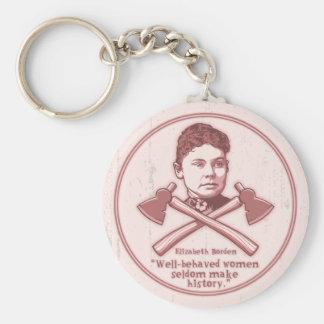 Well Behaved Lizzie 417 Keychain