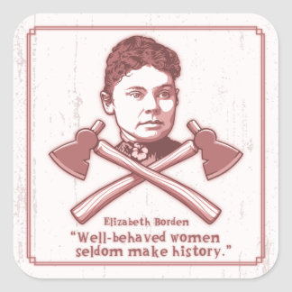 Well Behaved Lizzie 417 Square Sticker