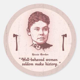 Well Behaved Lizzie Classic Round Sticker