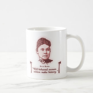 Well Behaved Lizzie Classic White Coffee Mug