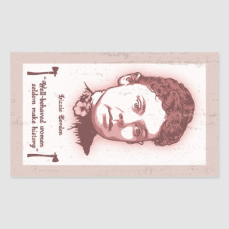 Well Behaved Lizzie Rectangular Sticker