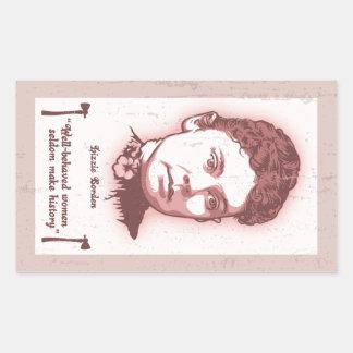 Well Behaved Lizzie Rectangular Sticker