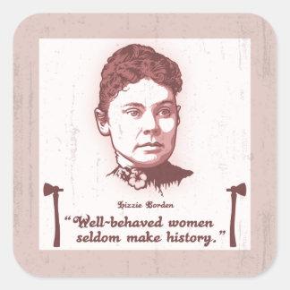 Well Behaved Lizzie Square Sticker