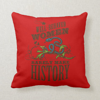 Well Behaved Woman - RV Queen of the Road Throw Pillow