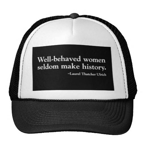 Well-Behaved Women Black Organic Junior T-Shirt (8 Mesh Hat