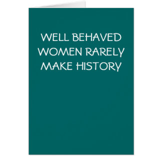 WELL BEHAVED WOMEN - card