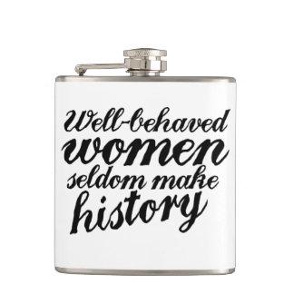 Well behaved women hip flask