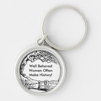 Well Behaved Women Often Make History! Keychains