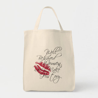 Well behaved women organic tote