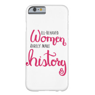 Well-Behaved Women Phone Case White/Red