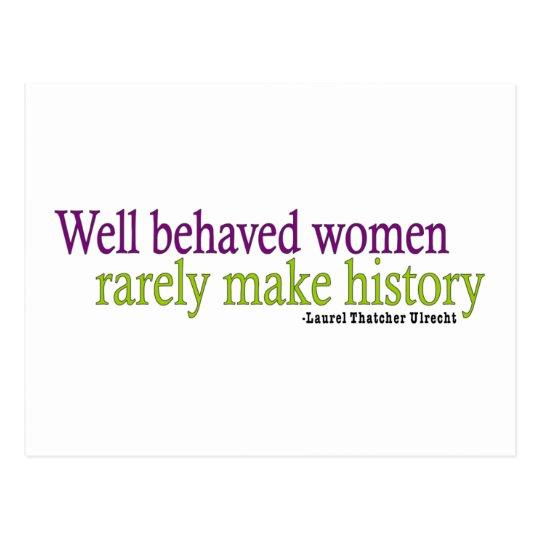 Well Behaved Women  Postcard