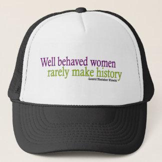 Well Behaved Women Quote Trucker Hat