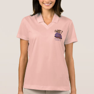 Well behaved women rarely make history, purple polo shirt