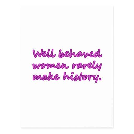 Well Behaved Women Sarcastic Design Postcard