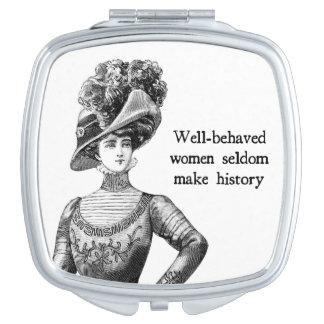 Well-Behaved Women { Seldom Make History } Makeup Mirror