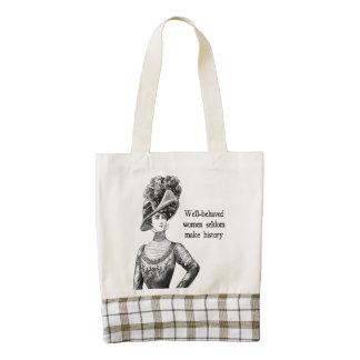 Well-Behaved Women Seldom Make History Zazzle HEART Tote Bag