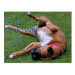 Well-being feeling boxer post card