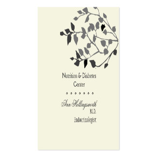 Well-Being  Medical Health Nature Branches Business Card