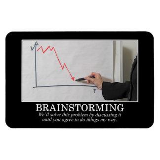 We'll Brainstorm Until You Agree With Me Rectangular Magnet