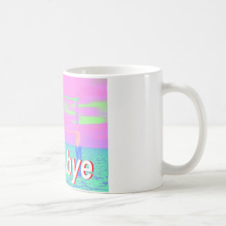 well bye skeleton classic white coffee mug