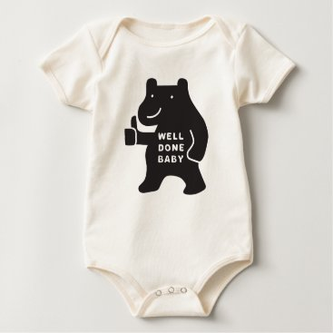 USA Themed Well Done Baby Classic Bear Organic Bodysuit