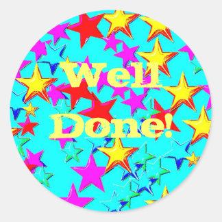Well Done Blue Star sticker