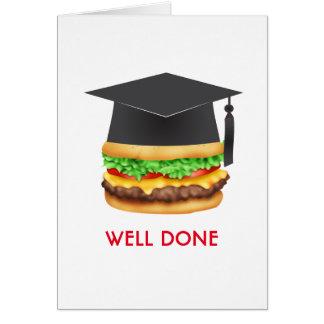 Well Done Burger Congratulations Graduate Card