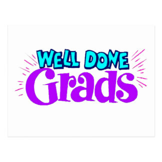 Well Done Grads Postcard